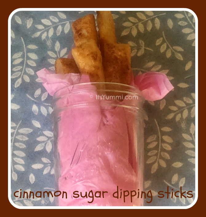 Use a homemade puff pastry recipe to create these Cinnamon Sugar Dipping Sticks from ItsYummi.com