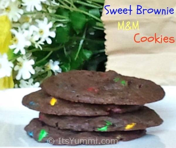 Sweet Brownie M&M Cookies