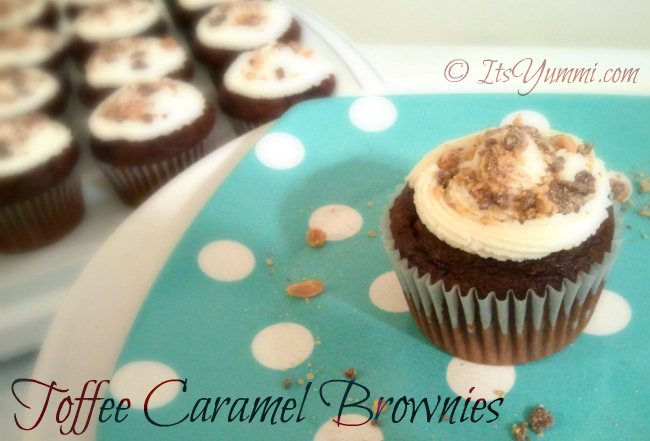 Toffee Caramel Brownies from ItsYummi.com