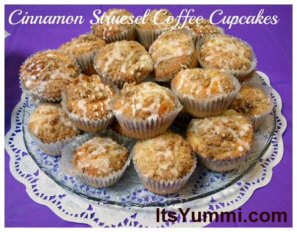 Cinnamon Streusel Coffee Cupcakes - recipe from ItsYummi.com