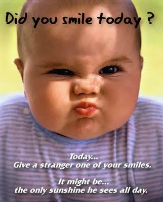 Give a stranger a smile today!