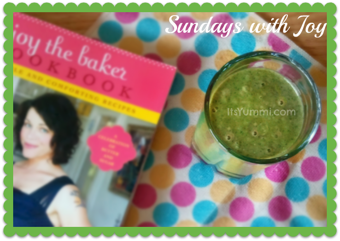 Joy the Baker's Kale Spinach Banana and Peanut Butter Smoothie