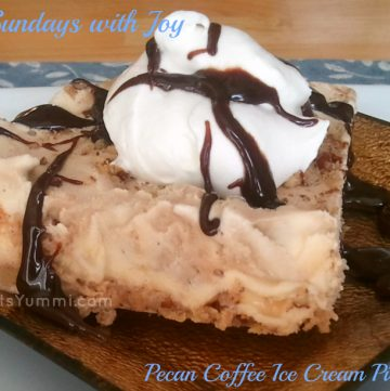 Easy frozen desserts like this pecan coffee ice cream pie are my favorite summer dessert!