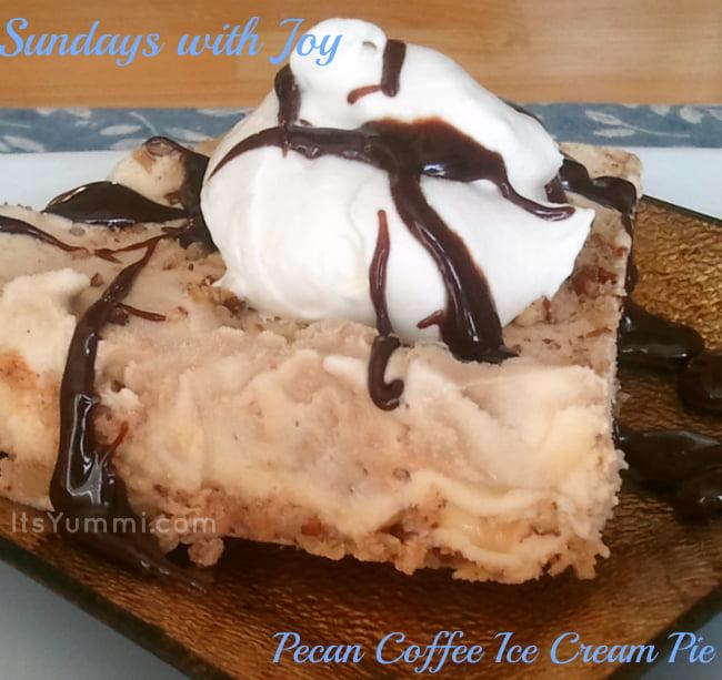 Easy frozen desserts like this pecan coffee ice cream pie are my favorite summer dessert!