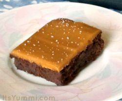 Salted Caramel Hot Fudge Brownies From Scratch Recipe - These brownies are chocolaty, rich, and completely delicious!