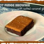 hot fudge brownie with salted caramel glaze from ItsYummi.com