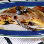 Blueberry-Orange Almond Buttermilk Pancakes