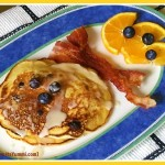 Blueberry, Orange and Almond Pancakes, from ItsYummi.com
