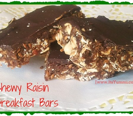 Chewy Raisin Breakfast Bars from ItsYummi.com