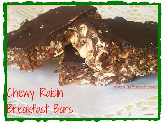 Chewy Raisin Breakfast Bars
