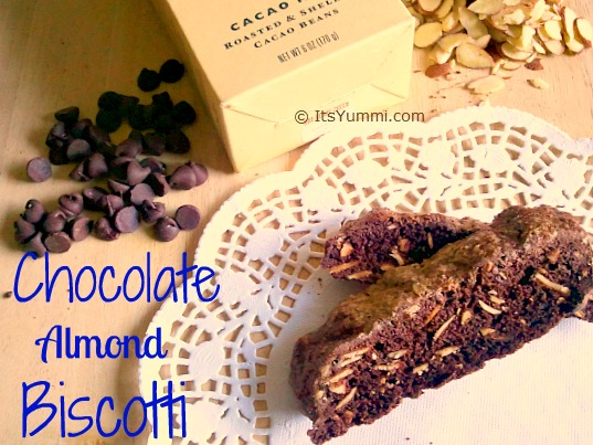 Double Chocolate Almond Biscotti - Photo by Becca Heflin of It's Yummilicious