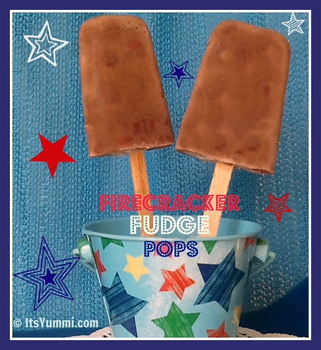 Firecracker Fudge Pops