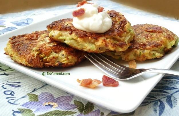 Zucchini Bacon Potato Pancakes