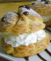 Cream puffs and puff pastry
