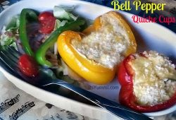 Chicken Bell Pepper Quiche Cups - A low carb meal that's perfect for breakfast, brunch, lunch, or dinner! Get the recipe from itsyummi.com