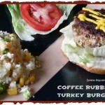 coffee rubbed turkey burger from ItsYummi.com