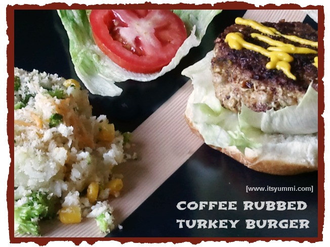 These coffee rubbed burgers are made with lean ground turkey. They're loaded with flavor! Recipe from ItsYummi.com