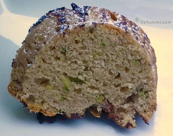 Zucchini Cream Cheese Chocolate Pound Cake from ItsYummi.com