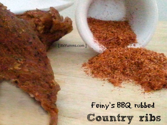 Country Ribs, seasoned with Fein Tasting Foods BBQ rub