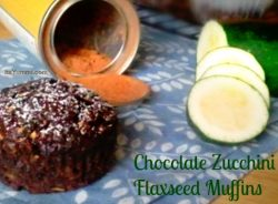 chocolate zucchini flaxseed muffin - this sugar free snack muffins are loaded with fiber and it's sugar-free, so it's diabetic friendly, too.