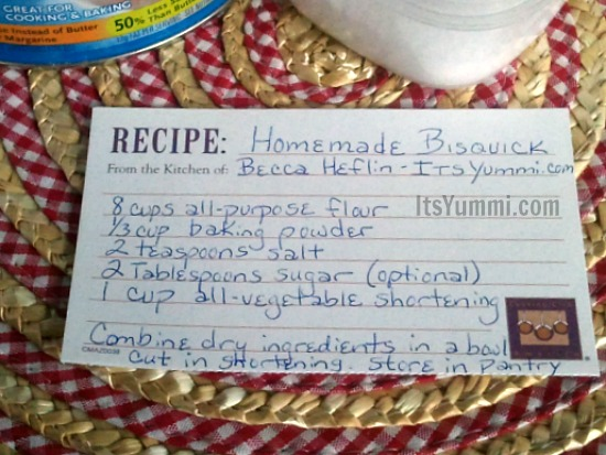 DIY Bisquick - Make your own homemade dry baking mix at home for a lot less