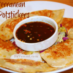Mediterranean Potstickers from ItsYummi.com #appetizer #recipe