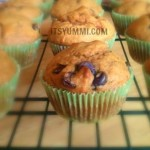 Pumpkin Ginger Chocolate Chip Muffins from ItsYummi.com