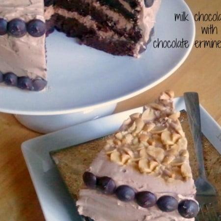 milk chocolate cake with chocolate ermine frosting from ItsYummi.com