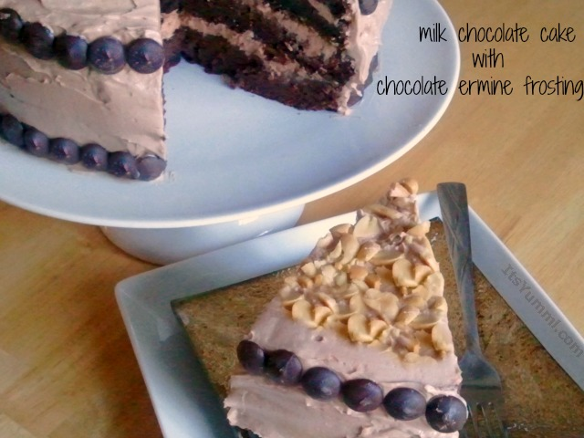 Homemade Chocolate Cake with Ermine Frosting