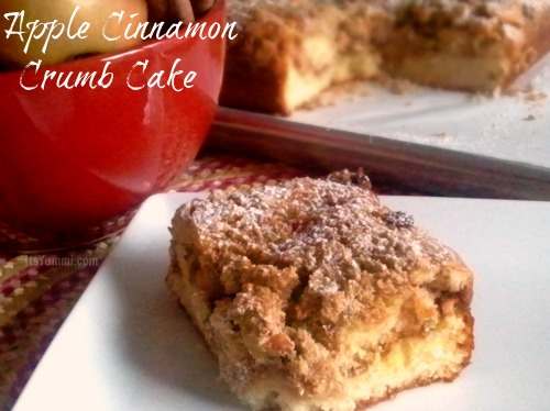 Apple Cinnamon Crumb Cake - get the recipe at itsyummi.com