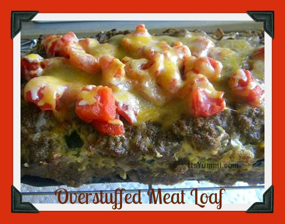 Over Stuffed Meatloaf Recipe - this meatloaf is stuffed with so much goodness inside and topped with even more goodness outside, you won't know which to eat first!