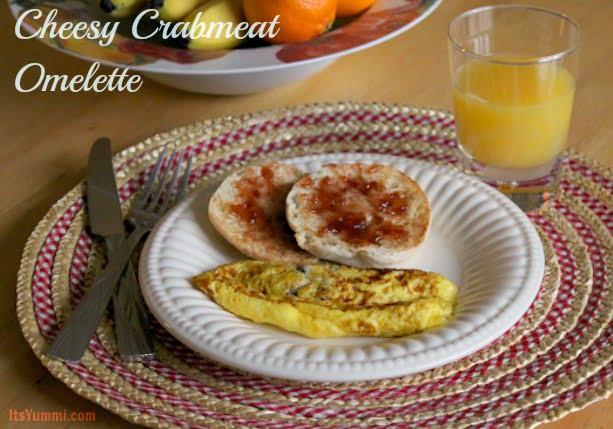 Cheesy Crabmeat Omelette from ItsYummi.com