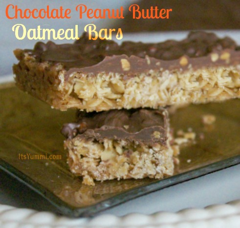 If you grew up eating Oh Henry! candy bars, and you want to make them at home, you'll love this chocolate peanut butter oatmeal bars recipe. Get it here!