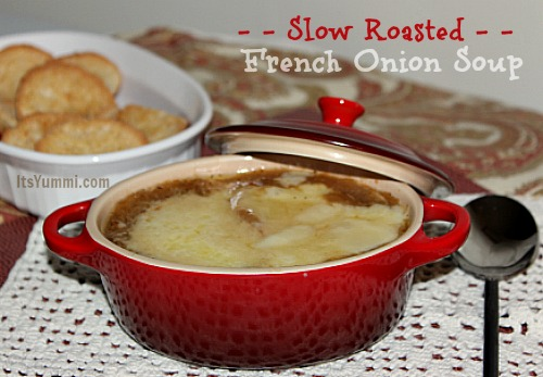 bowl of slow roasted French onion soup