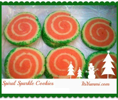 Spiral Sparkle Cookies from ItsYummi.com