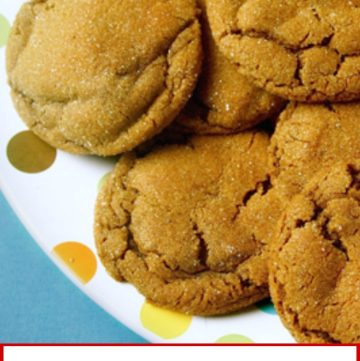 titled image (and shown): molasses crinkle cookies