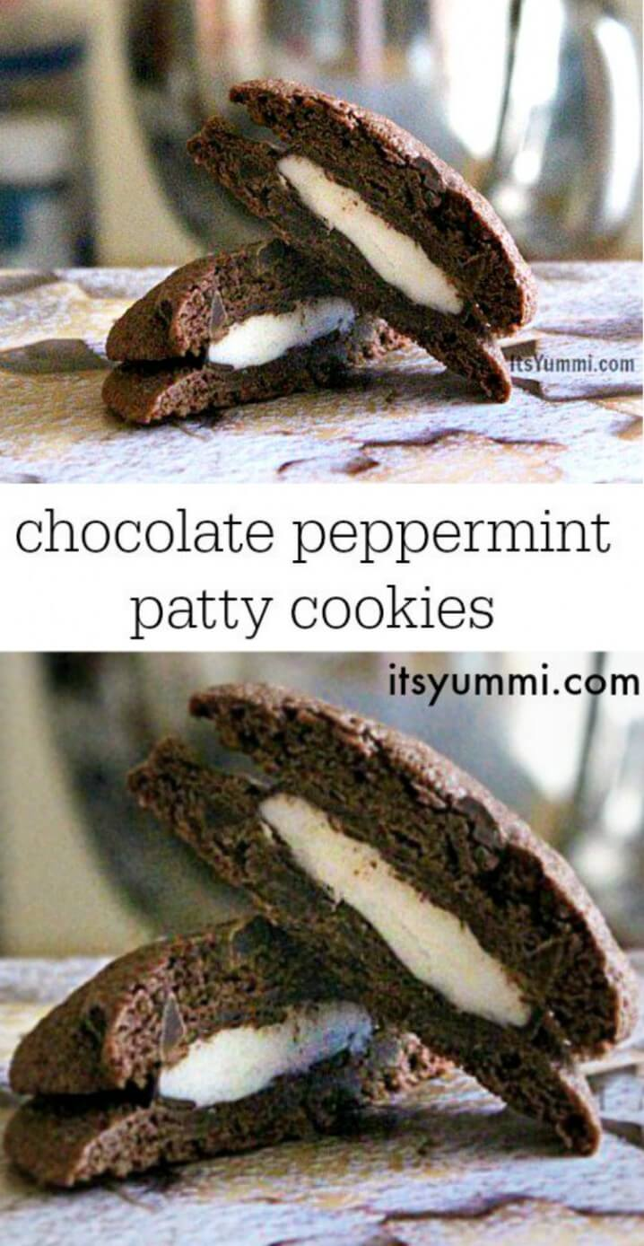 Chocolate Peppermint Patty Cookies - Get the recipe from itsyummi.com