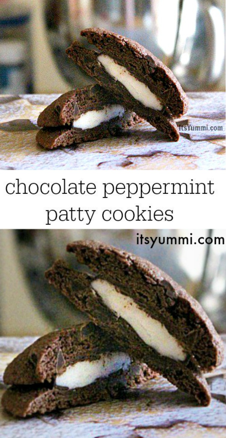recipe for Chocolate Peppermint Patty Cookies from @itsyummi