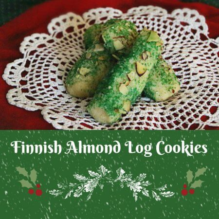 Finnish Almond Log Cookies - A delicious almond meal Christmas cookie that looks beautiful on a holiday cookie platter! Recipe on itsyummi.com