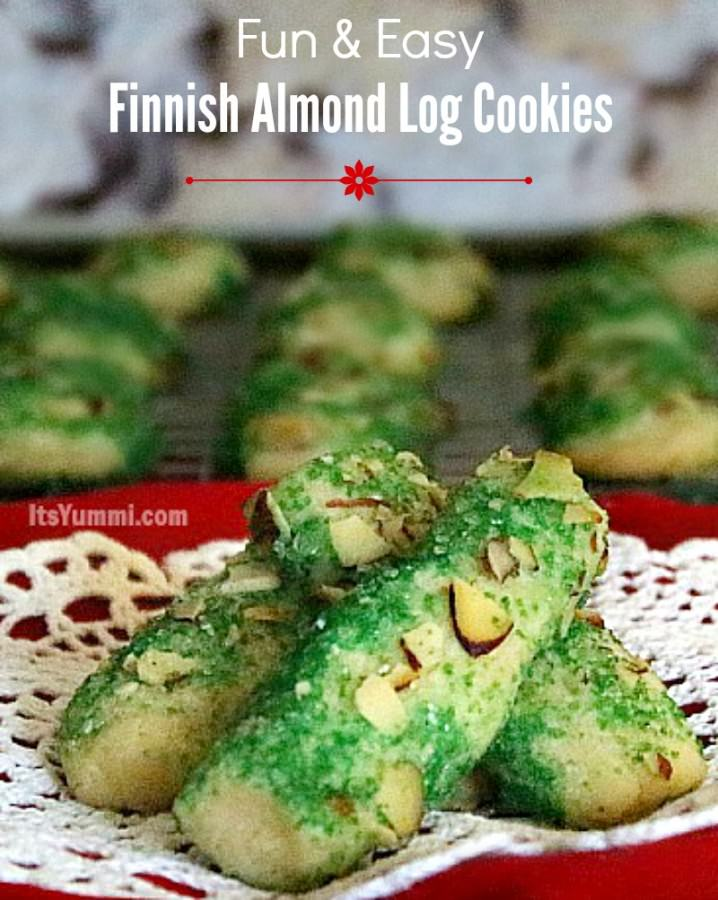 A classic Christmas holiday cookie! Finnish Almond Log Cookies - get the recipe from ItsYummi.com