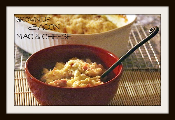 Grown Up Bacon Mac 'n Cheese from ItsYummi.com