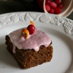 Orange Gingerbread Cake with Cranberry Cream Cheese Frosting from ItsYummi.com