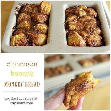 Cinnamon Banana Monkey Bread (titled photo)