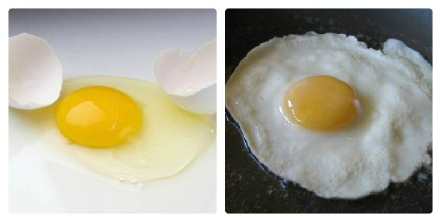 Eggs - Raw vs Fried