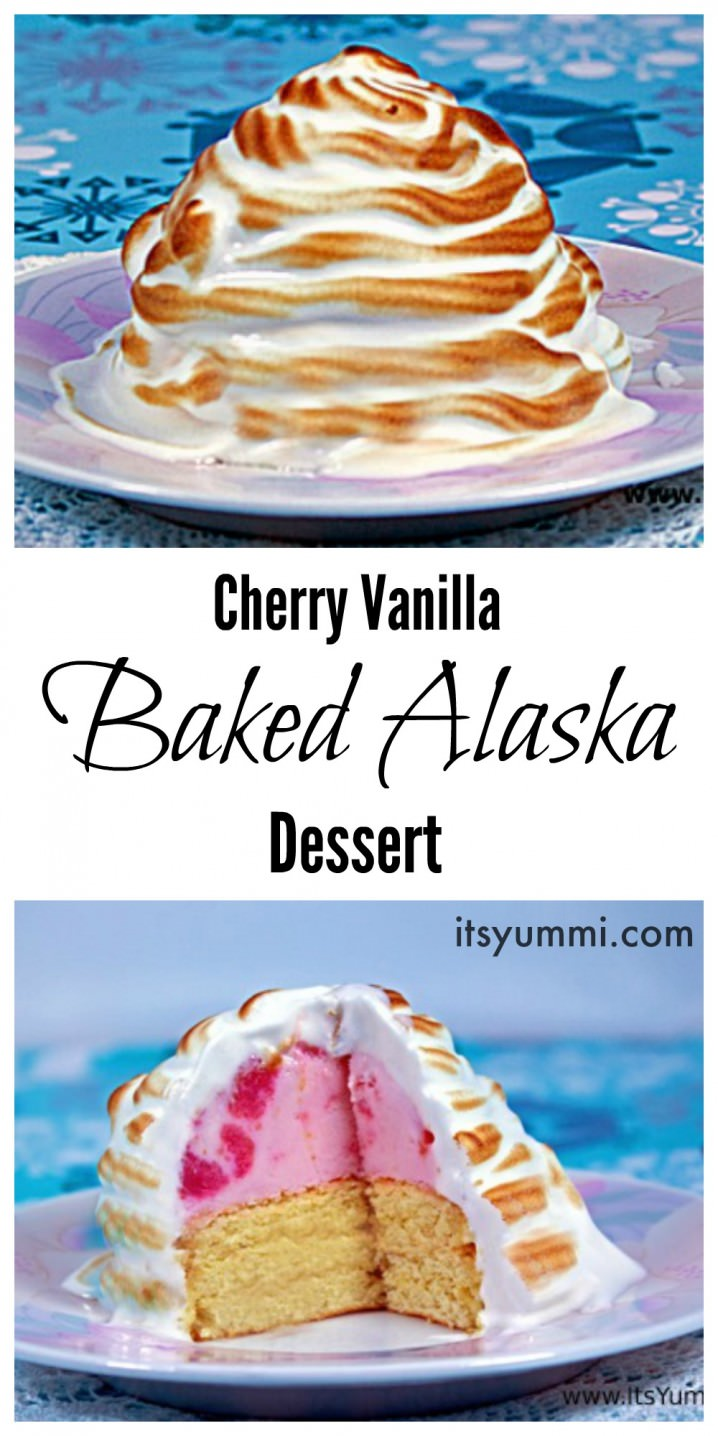 This baked Alaska recipe is so much fun to make and it's beautiful on a holiday dessert table!