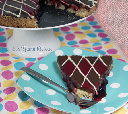 Double Chocolate Raspberry Cheesecake Tart