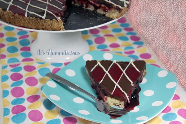 Double Chocolate Raspberry Cheesecake Tart