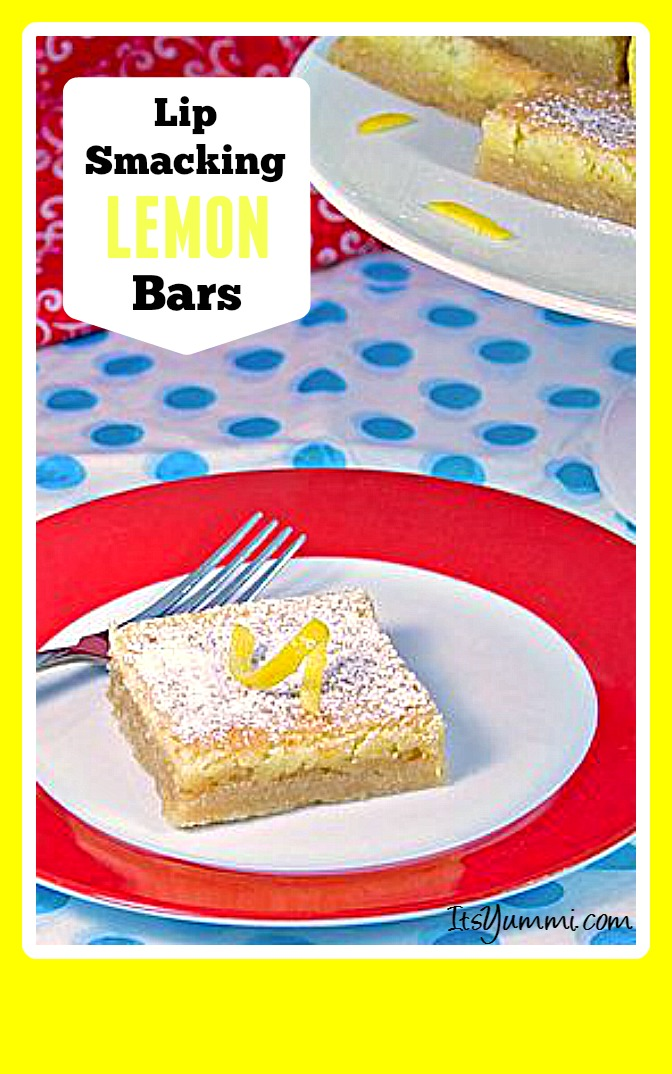 This lip smacking good lemon bars recipe is super easy to make. The tart and tangy lemon flavor mixed and the shortbread crust make this one of my favorite desserts!