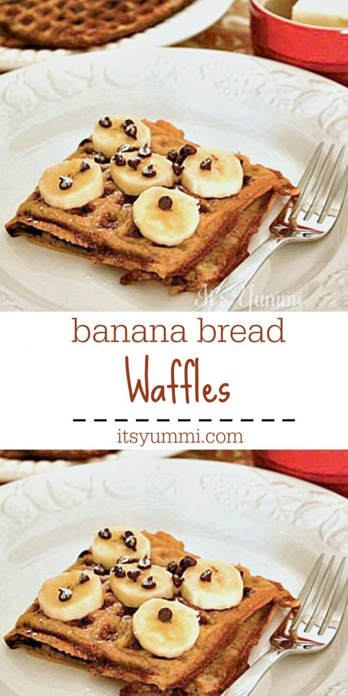 Banana Bread Waffles Recipe from ItsYummi.com - The taste of banana bread has made it to this waffles recipe. It's the perfect treat for breakfast or brunch!