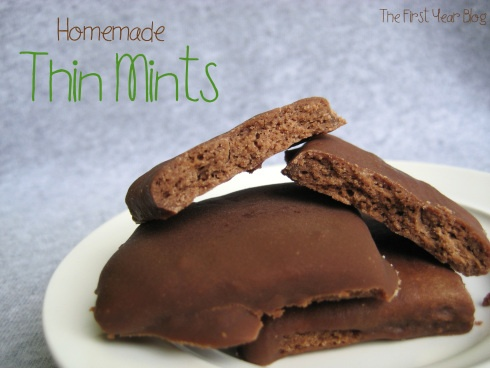 Homemade Thin Mints from The First Year Blog